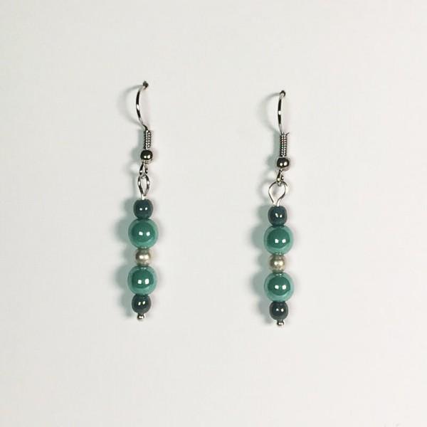 Perlen Ohrringe in Türkis