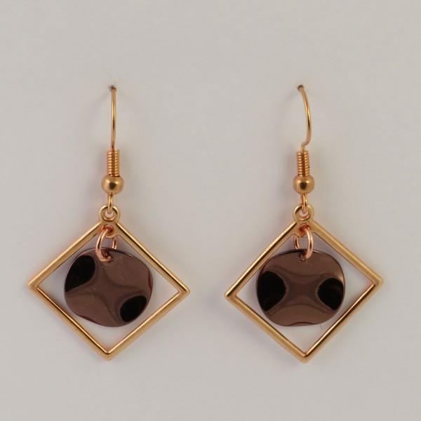 Ohrringe Geometrisch Rosegold