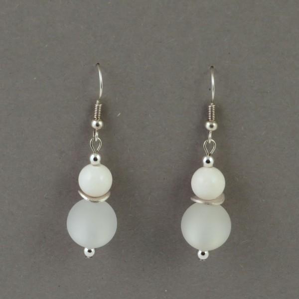 Ohrringe Polaris Weiß